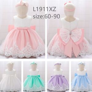 US Baby Girls Toddler Party Tutu Dress Pageant Wedding Birthday Princess Dresses