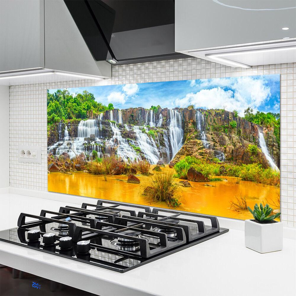 Crédence de cuisine en verre Panneau 140x70 140x70 140x70 Nature Chute D'eau d5f55c