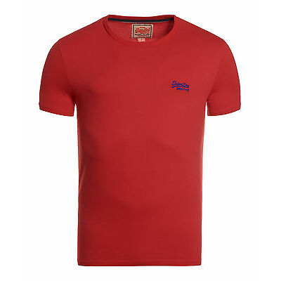 Superdry Hombre Camiseta Orange Label Vintage Red