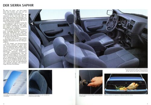Ford Sierra Saphir Prospekt 1992 5//92 Autoprospekt brochure prospectus brosjyre