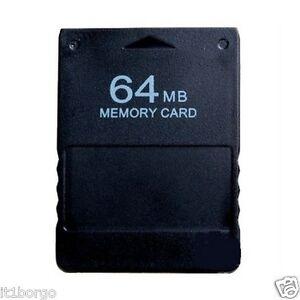 PS2-MEMORY-CARD-64MB-NERA-PLAYSTATION-2-PSTWO