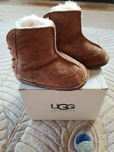 43d9672923b Details about ⭐Ugg Boots Babyboo Chestnut Tan Suede/ Leather/Sheepskin Size  Infant Medium⭐