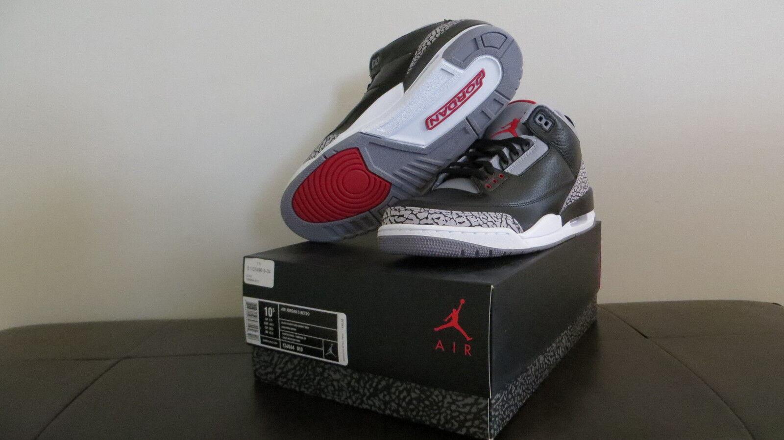 Nike jordan air jordan Nike iii schwarze zement 10,5 7d8f8d