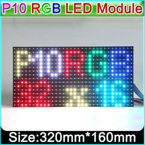 Details about RGB P10 Outdoor led matrix display module pixel Panel 1/4scan  32x16 Dots SMD3535