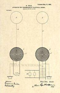 Official-1900-Tesla-Coil-US-Patent-Art-Print-Vintage-Antique-Nikola-Tesla-56
