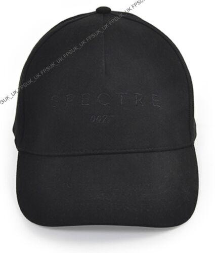 Official James Bond 007 Spectre Embroidered Logo Black Baseball Cap Gift NEW