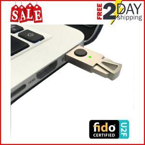 Details about Universal Two Factor Titanium U2F Security Key,  Authentication USB HID