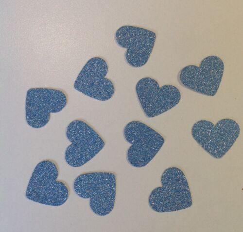 100 Large Silver Glitter Hearts Card Making Wedding Craft Scrapbooking