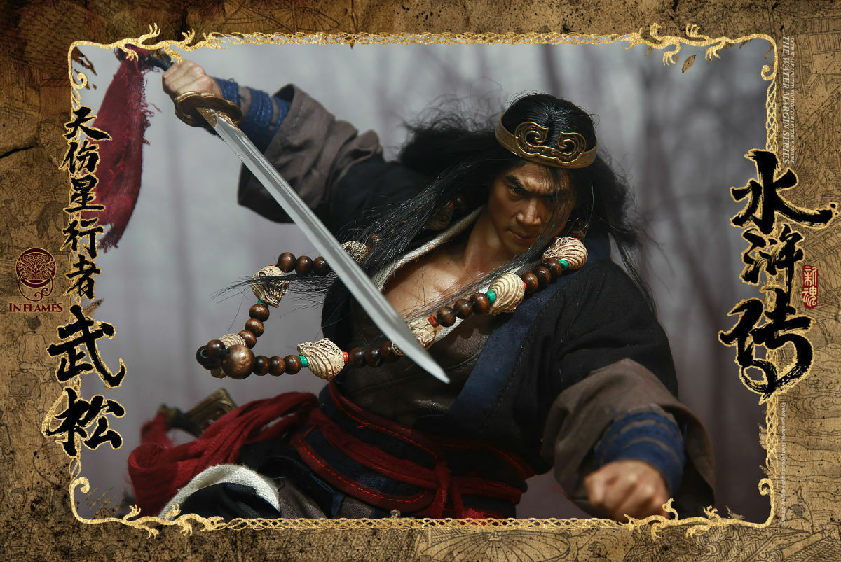 "IN FLAMESXNEWSOUL 1 6 The Water Margin Series ""Skywalker Wu Song"" Figure Collect"