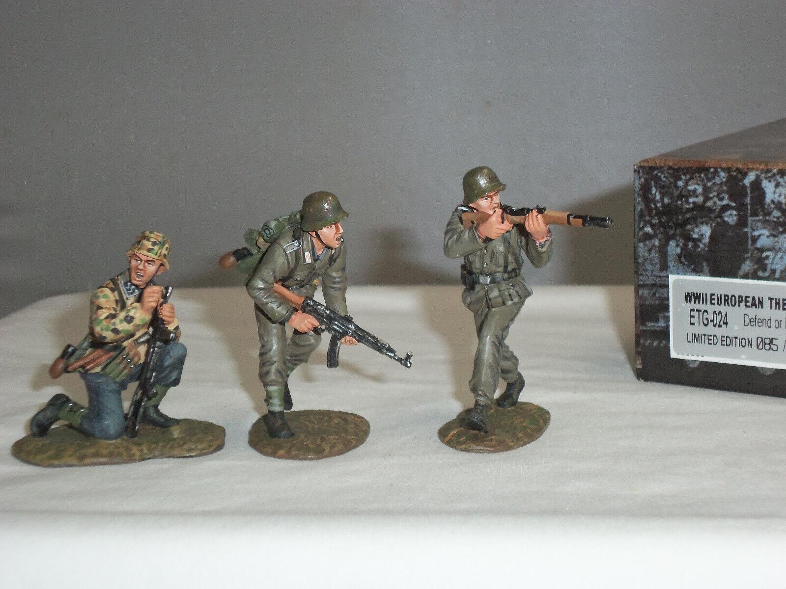 FIGARTI ETG024 GERMAN ARMY DEFEND OR DIE WORLD WAR TWO METAL TOY SOLDIER SET