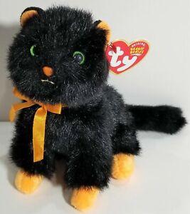 Ty Store Beanie - Jinxy the Halloween Black Cat New (6 Inch) MWMT 15cm