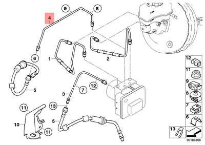 Genuine BMW E84 E90 E90N E91 E91N E92 E92N Front Brake Pipe OEM 34326853537