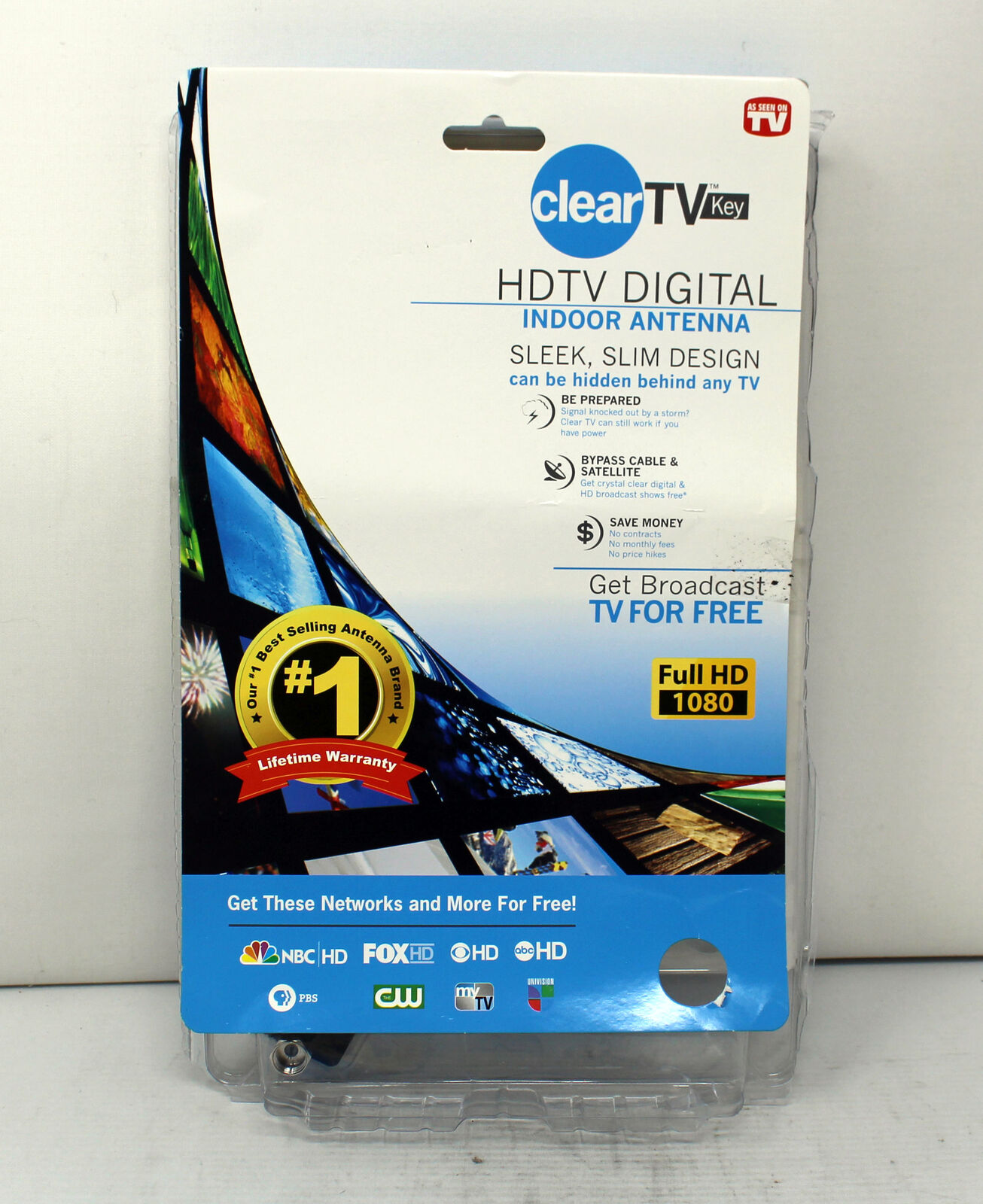 Clear TV Key HDTV FREE TV Digital Indoor Antenna Ditch Cable As Seen on TVF2