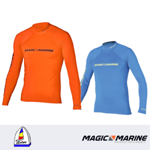 Magic Marine orange // blau Cube Rash Vest L//S