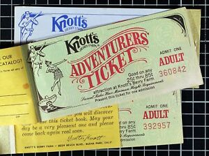 Vintage-Knott-039-s-Berry-Farm-Adventurers-ticket-Book-1970-039-s-Lot-of-3
