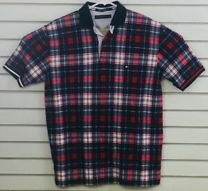 Red//White//Blue Size M Men/'s Tommy Hilfiger Short Sleeve Button Down Shirt