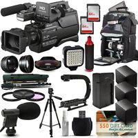 Sony Hxr-mc2500 Shoulder Pro Video Camcorder + Extreme Accessory Bundle Kit