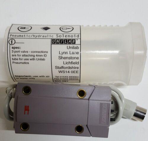 Unilab 3 Port Valve Connection 4mm ID Tube Pneumatics Hydraulic Solenoid 800.091