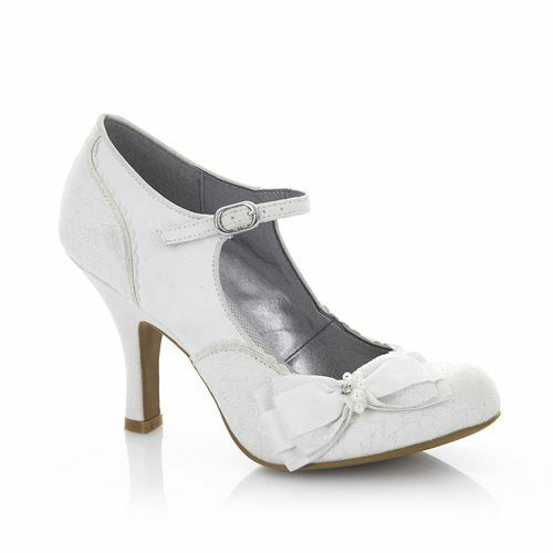 Ruby Shoo Maria WEISS/Silver Wedding Schuhes High Heel, Arco Bag