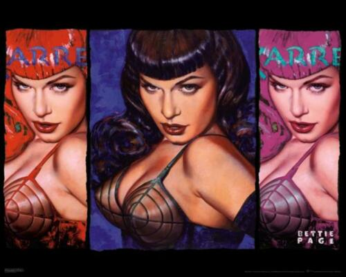 Bettie Page Colors NEW Cool Wall Decoration Art Print Poster 20x16