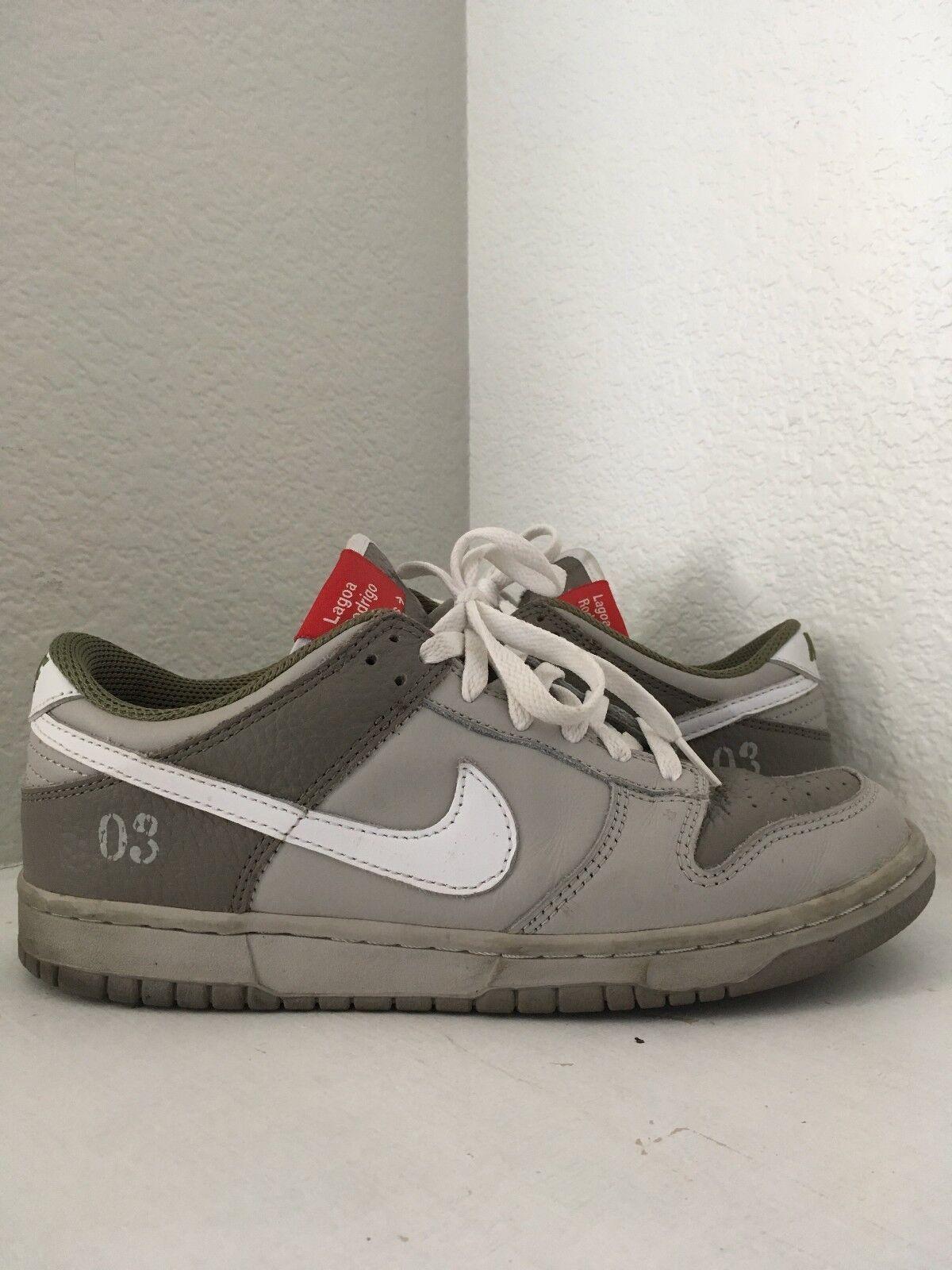 2018 Nike Dunk Low Premium Lagoa Rodrigo De Freitas Grey White Size 8.5
