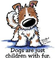 Cute Dogs Are Just Children With Fur Tshirts 7484 Kiniart Pet Puppy