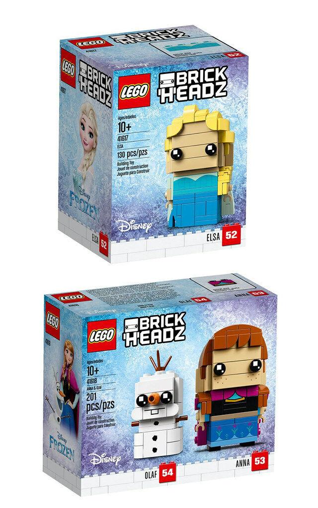 LEGO® Brick Headz  41617 Elsa und 41618 Anna & Olaf Karottennase Frozen NEU OVP
