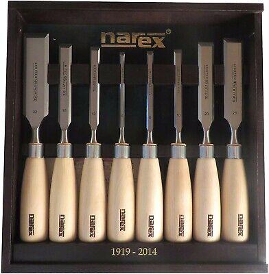 16 10 5//8 Made in Czech Republic 1//2 20 3//8 8 32 Narex 11//16 5//16 26 1//4 Premium 8 pc set 6 1 1//4 12 mm Chisels w// Hornbeam Handles 1 1//16