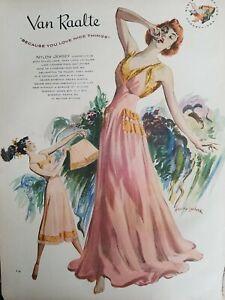 9741bec381ef 1948 van raalte women's nylon Jersey lingerie slip underwear redhead ...