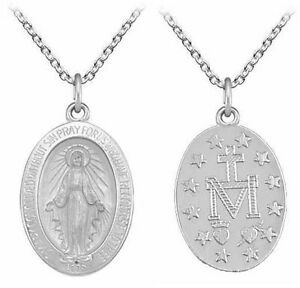 pendant miraculous mary com jewelry charm necklace dp medallion yellow medal solid amazon blessed mother virgin gold