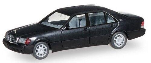 MB Classe S V12 (W140 - 1991) noire  - Herpa - 1/87 ème - HO