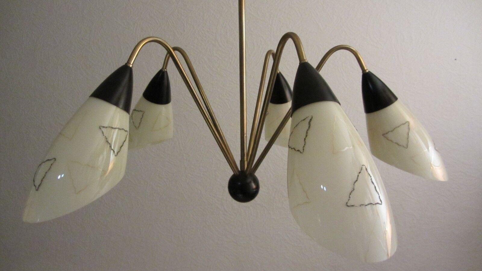 nuovo di marca Lo Sputnik 5 5 5 Bracci Lampada a sospensione Lampada ragni tütenampe spider lamp vintage' 50er J  Ritorno di 10 giorni