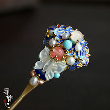 High Quality Chinese Classical Women Hairpin  Cloisonn  Hair Comb Accessories