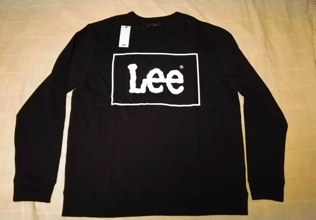Lee   Sweatshirt Crew , schwarz, XL