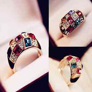 Fashion-Women-Colourful-Rhinestone-Crystal-Gold-Finger-Ring-Wedding-Jewelry-Gift