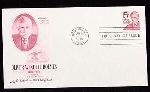 1978-FDC-Oliver-Wendell-Holmes-Rate-Change-First-Day-Issue