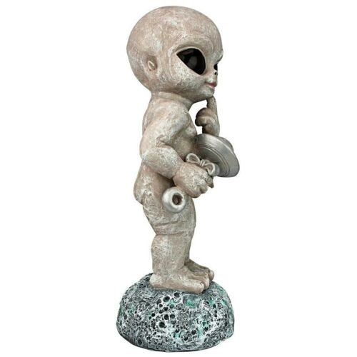 UFO Extra Terrestrial Toddler Roswell Alien Other Worldly Statue Gray Sculpture