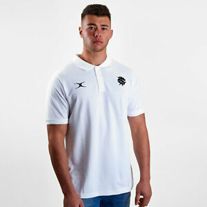 e3250adeda4 Gilbert Mens Barbarians 2019 Off Field Rugby Polo Shirt T-Shirt Top ...