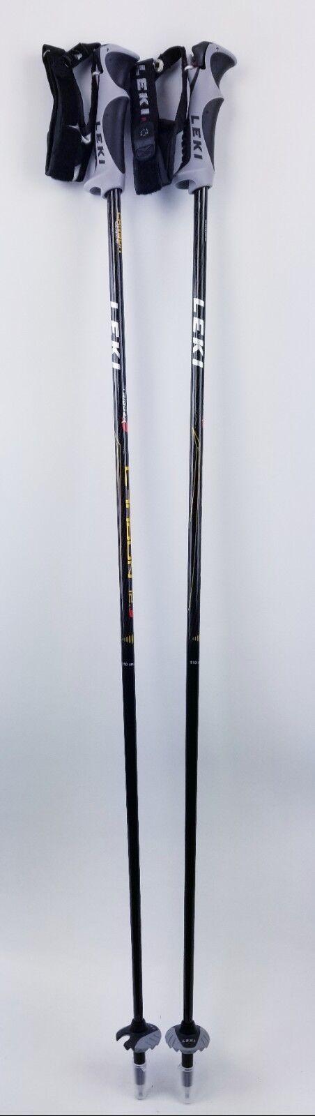 220 LEKI Carbon 12S Trigger  S Compatible Ski Poles 110CM 44  Downhill Skiing  large selection