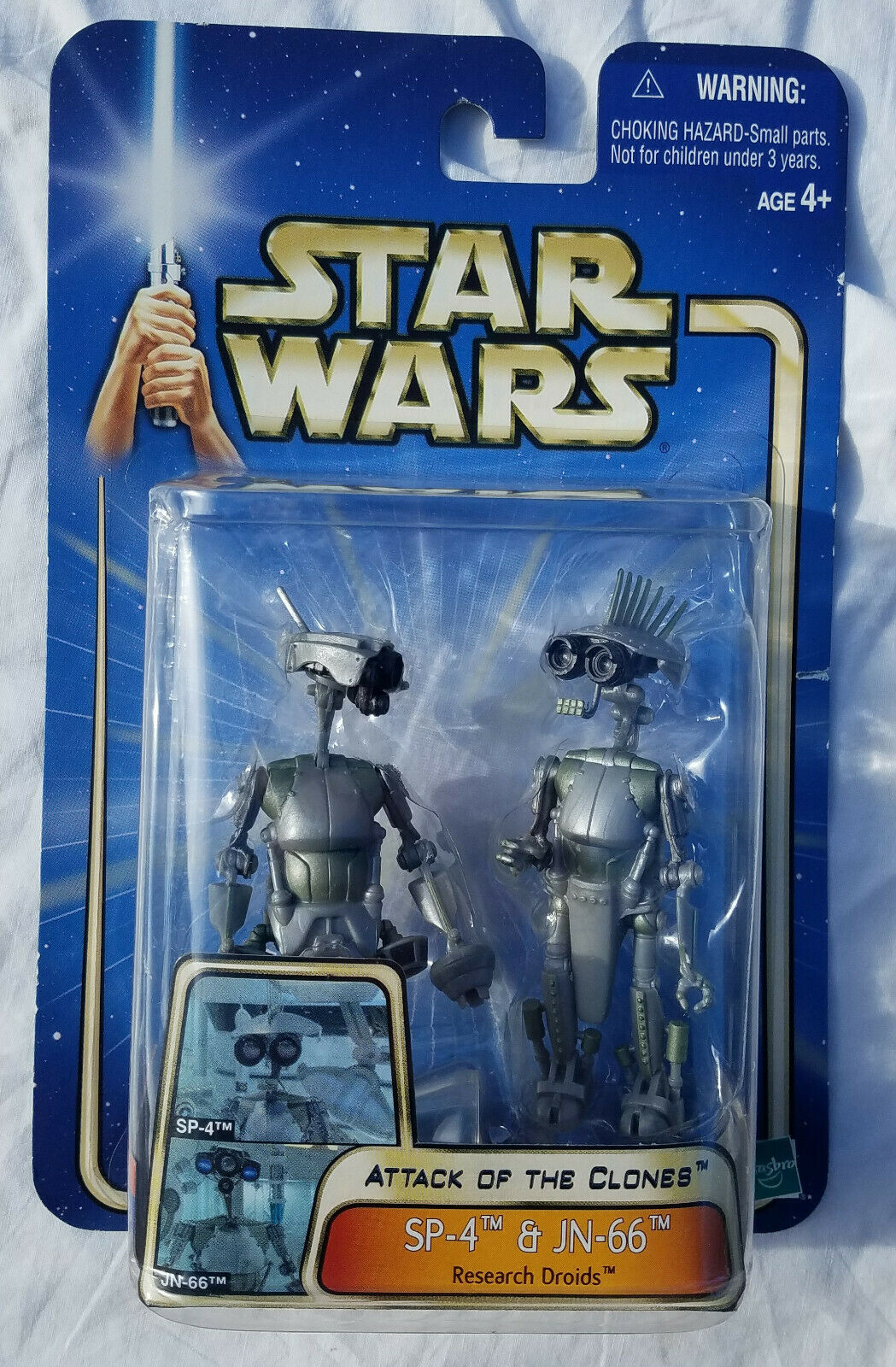 Star Wars AOTC Sp-4 /& Jn-66 Research Droids Action Figures