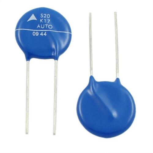 5x Varistor S20K17AUTO ; 17V 200mW ; RM10 d21x4mm ; B72220S1170K102