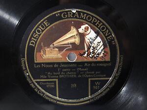 78rpm YVONNE BROTHIER sings LES NOCES DE JEANNETTE - SIGNED BY BROTHIER !! - Deutschland, Deutschland - 78rpm YVONNE BROTHIER sings LES NOCES DE JEANNETTE - SIGNED BY BROTHIER !! - Deutschland, Deutschland