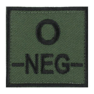 ECUSSON-PATCH-GROUPE-SANGUIN-O-O-NEG-O-NEGATIF-avec-DOS-AUTO-AGRIPPANT