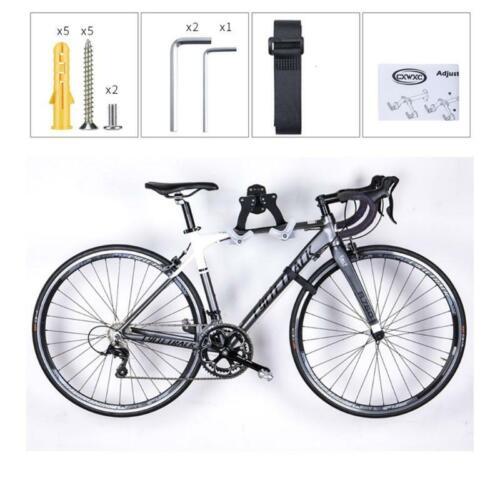 Horizontal Adjustable Bicycle Wall Mount Hanger Bike Hook Holder Storage Rack