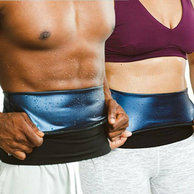 Sauna Waist Trimmer Belly Wrap Workout Sport Sweat Band Abdominal Trainer Shaper