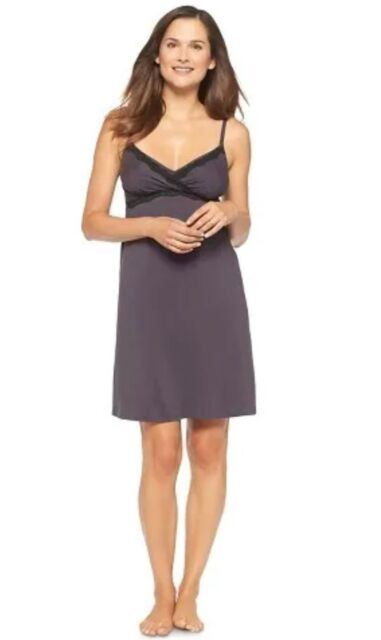 e966112112a Gilligan O'Malley Nursing Maternity Nightgown Chemise Soft Cool Modal Large  NWT