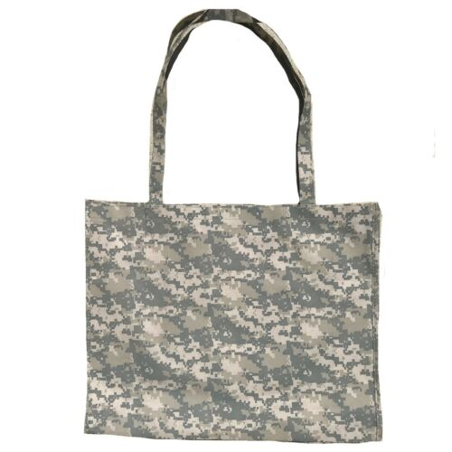 Large Reusable Grocery Shopping Totes Bags Gusset Digital Camo Camouflage 20x16/""