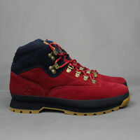 10.deep X Timberland The Nomad Euro Hiker Boot In Red With Navy Collar Nice