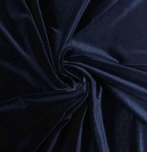 Navy-2way-stretch-velvet-fabric-60-Width-Sold-By-The-Yard