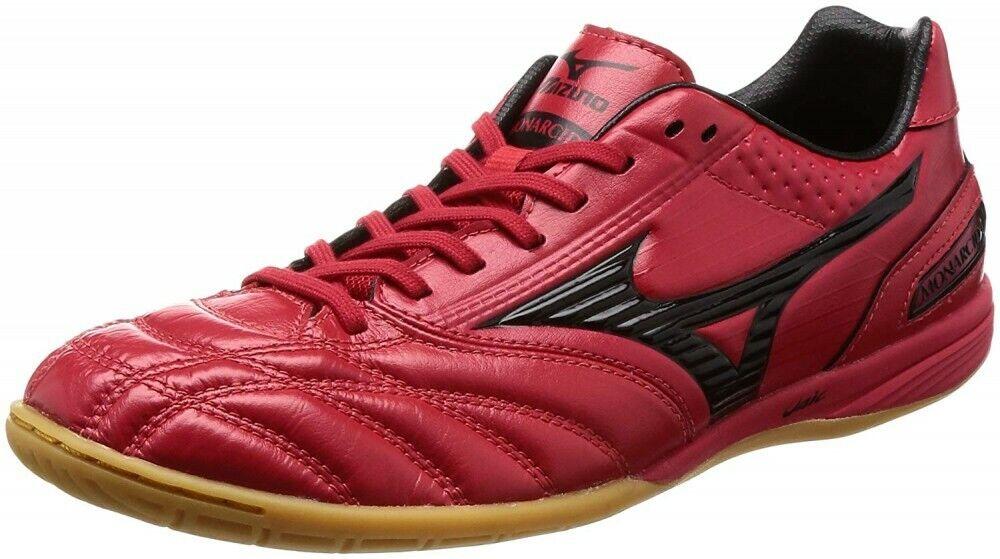 Mizuno Futsal Zapatos Monar Sida Sala pro Hombres Negro Rojo Japón con